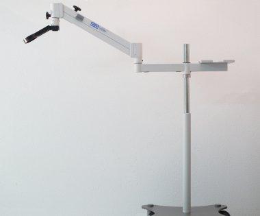 Flexi Bodenstativ mit Mikroskopaufnahme standard
