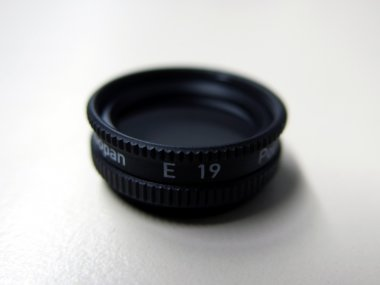 Polarisationsfilter für Fokussiervorsatz, drehbar