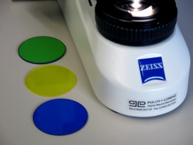 Farbfiltersatz blau, grün, gelb, d=45x1,5 für Primo