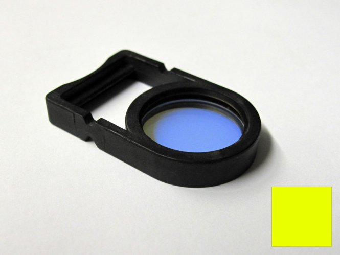 Einlegefilter / Farbfilter Gelb für Schott Lichtquellen