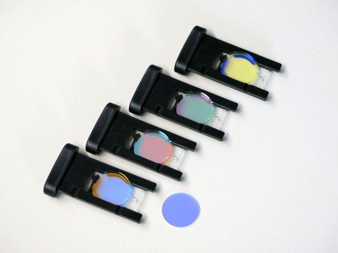 Farbfilterset inklusive 4x Halterahmen zu KL1600LED und KL2500LED