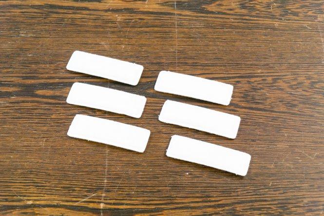 Set: 6x Textilpad klein zu Kopflupe KS