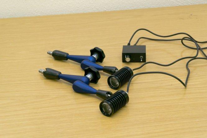 P+L LED-Doppelspot-Beleuchtung für Flexi-Stative