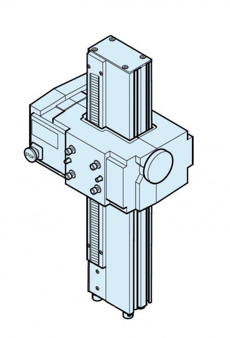 Stativsäule motorisiert, zentriert, 490mm, Fokusmotor 3