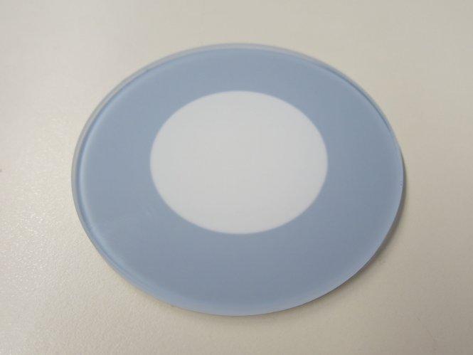 Einlegeplatte für Stative, 84mm, Opalglas mit Blende