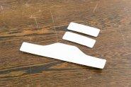 Set: 2x Textilpad klein (hinten/oben) + 1x Textilpad groß (vorn), zu Kopflupe KS
