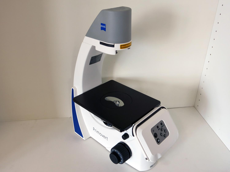 Mikroskopstativ primovert hdcam mit integrierter hd ip kamera mp